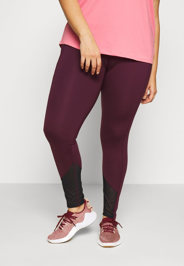 EXCLUSIVE LEGGINGS WITH PANELS - Collant - plum