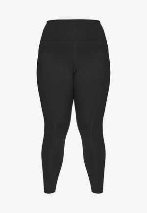 HIGH WAIST LEGGINGS CURVE - Punčochy - black