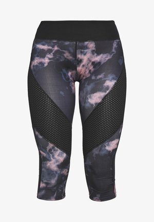 DARK MARBLE CROPPED WITH AIRTEX PANELS - 3/4 Sporthose - black