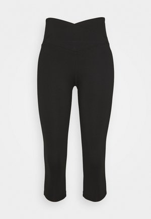 3/4 sportovní kalhoty - black
