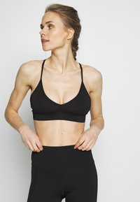 Wolf & Whistle - EXCLUSIVE STRAPPY BACK BRA - Sport BH - black - 0