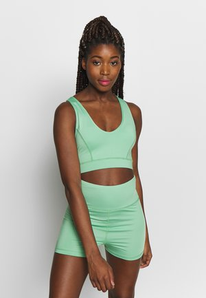 GREEN DOUBLE STRAP BACK SPORTS BRA - Sport BH - green
