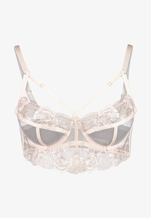 GRACE EMBROIDERED UNDERWIRED BRA - Podprsenka s kosticemi - cream