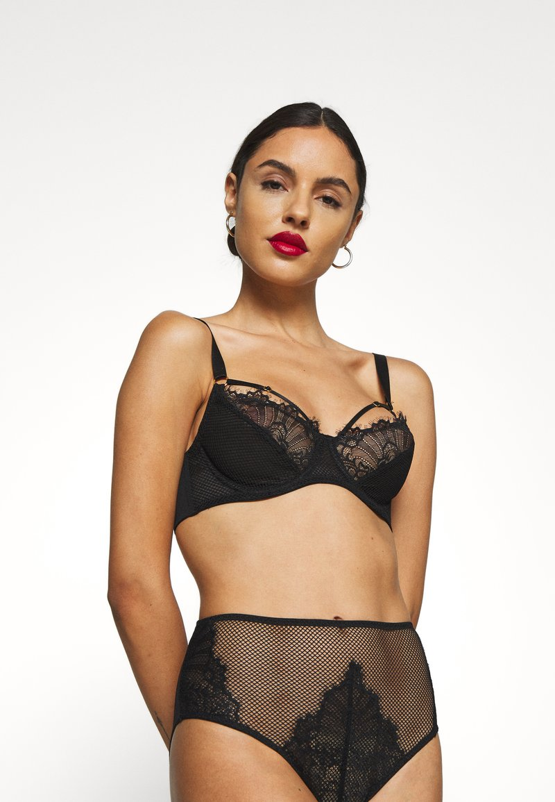 Wolf & Whistle - STRAPPY BRA - Soutien-gorge push-up - black