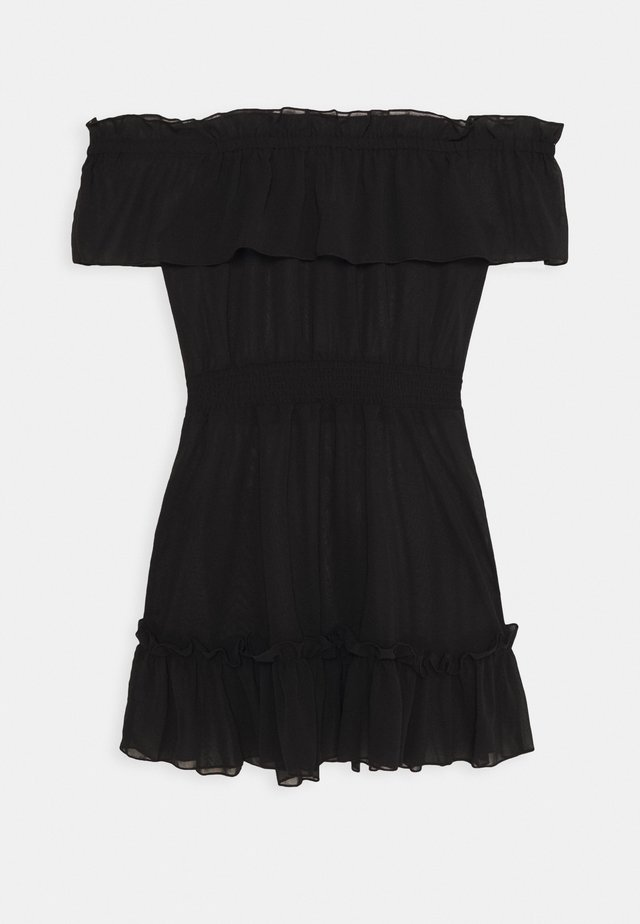 BARDOT FRILL BEACH DRESS - Strandaccessoire - black
