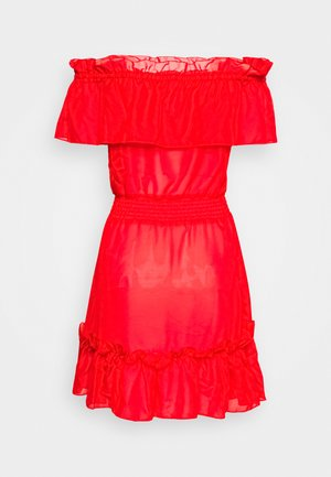 BARDOT FRILL BEACH DRESS - Strand accessories - red