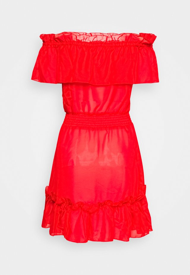 BARDOT FRILL BEACH DRESS - Beach accessory - red