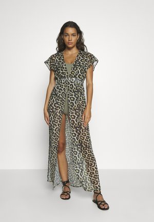 LEOPARD PRINT BEACH DRESS - Akcesoria plażowe - black/brown