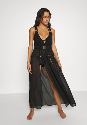 BEACH DRESS WITH BUCKLES AND RINGS - Accessoire de plage - black