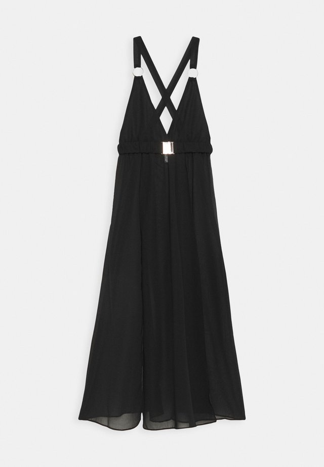 BEACH DRESS WITH BUCKLES AND RINGS - Accessorio da spiaggia - black