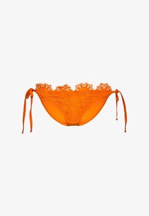 ORANGE TIE SIDE BRIEF - Spodní díl bikin - orange