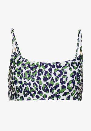 LEOPARD CROP - Bikini top - green