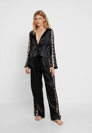 MORGAN TIE FRONT SET - Pyjamas - black
