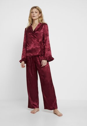 NORA FRILL SLEEVE WRAP OVER SET - Pyjama - red