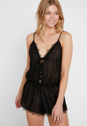 LILLIE CROCHET PLAYSUIT - Pigiama - black