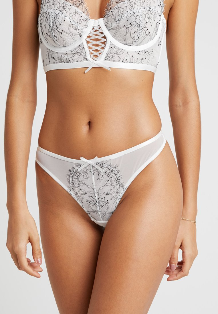 Wolf & Whistle - CHARLOTTE MCKINNEY CHORDED UP DETAIL THONG - String - white