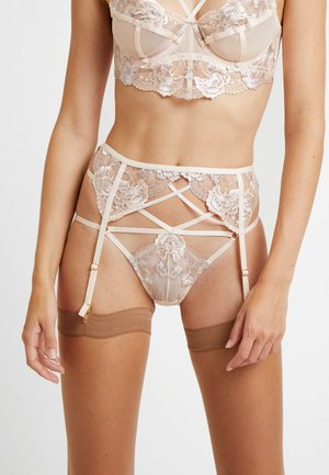 GRACE BLUSH EMBROIDERED SUSPENDER BELT - Strømpeholdere - cream