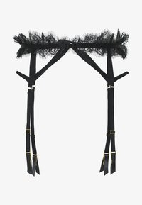 Wolf & Whistle - CHANTAL PLACEMENT CAGE SUSPENDER BELT - Strømpeholdere - black - 3