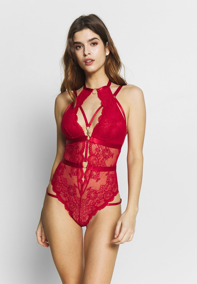 Wolf & Whistle - STRAPPY HALTER - Body - red