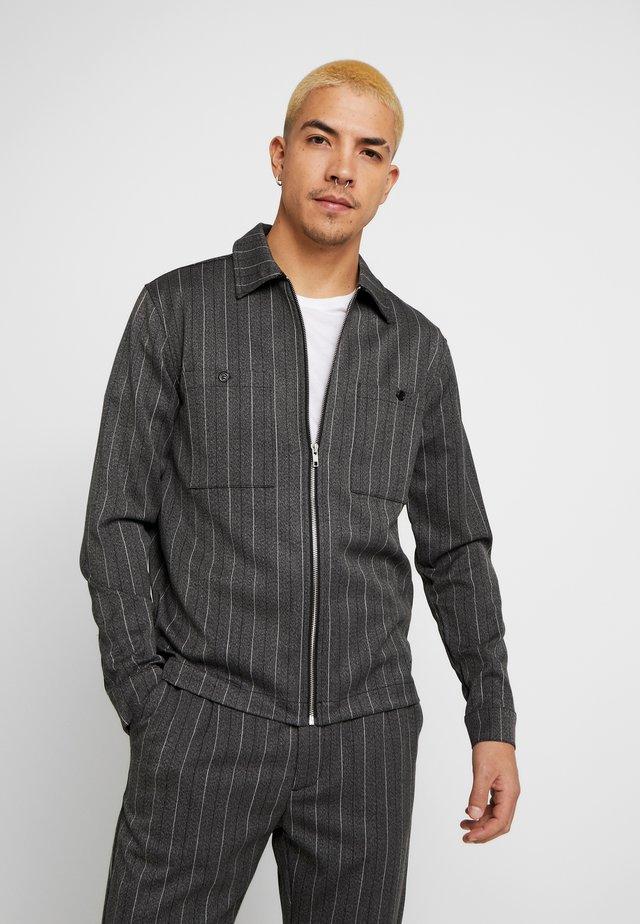 DRUEN PIN CHECK SHIRT - Camicia - grey