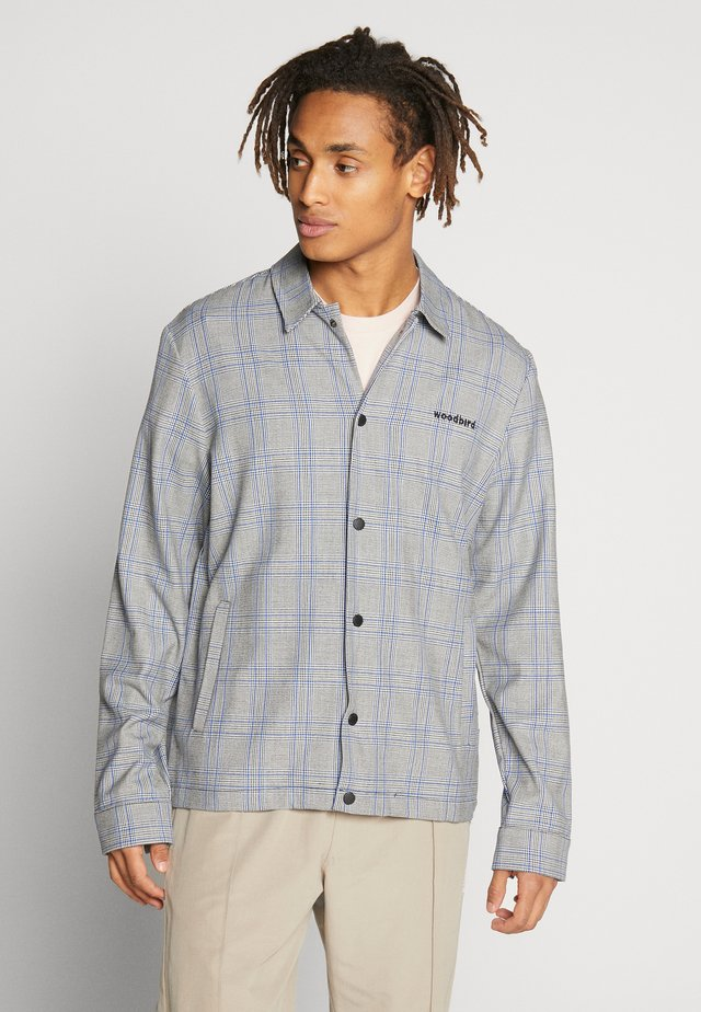 BRENTI CHECK - Shirt - light grey