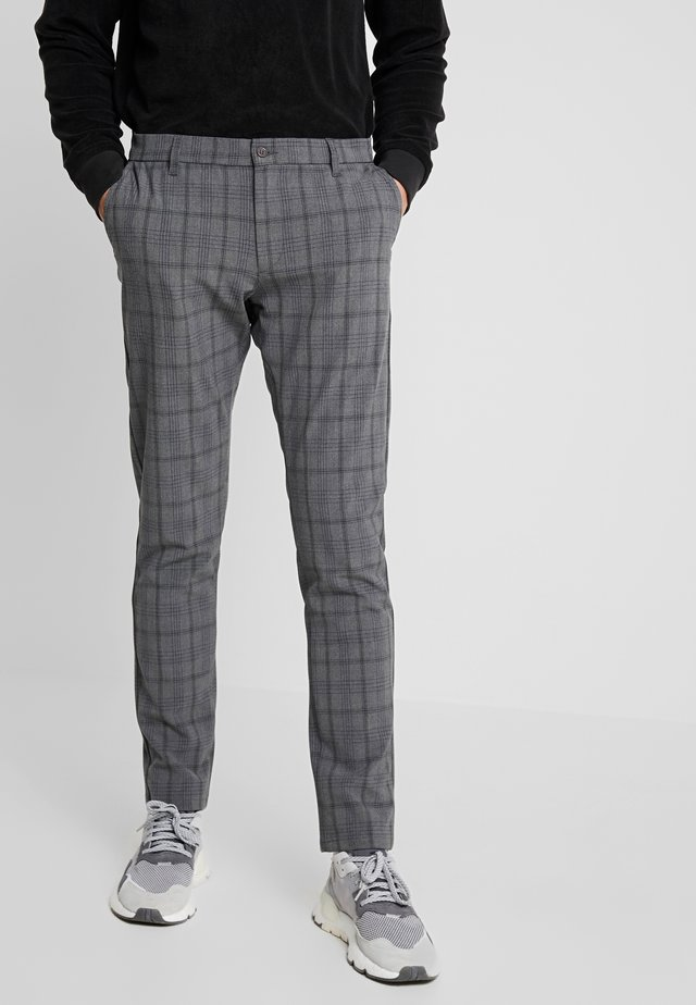 STEFFEN CHECK PANT - Trousers - grey
