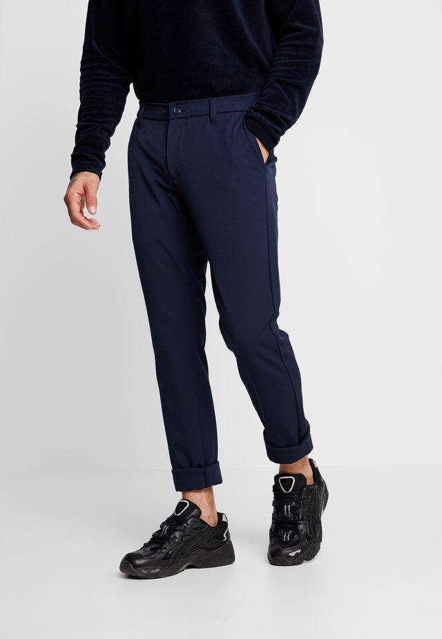 STEFFEN PANT - Spodnie materiałowe - midnight blue