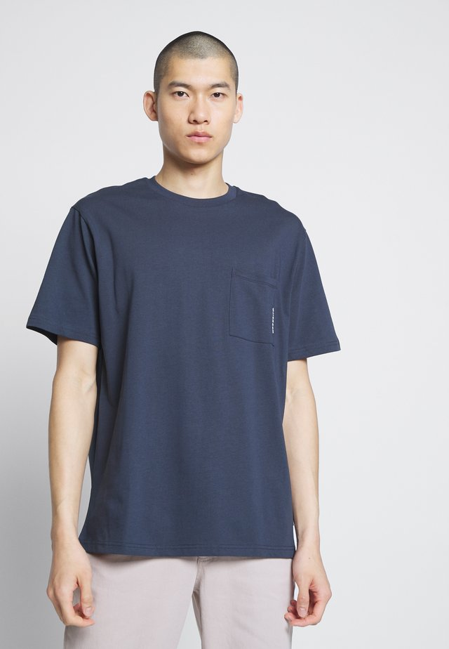 BOXY STENS TEE - Basic T-shirt - navy
