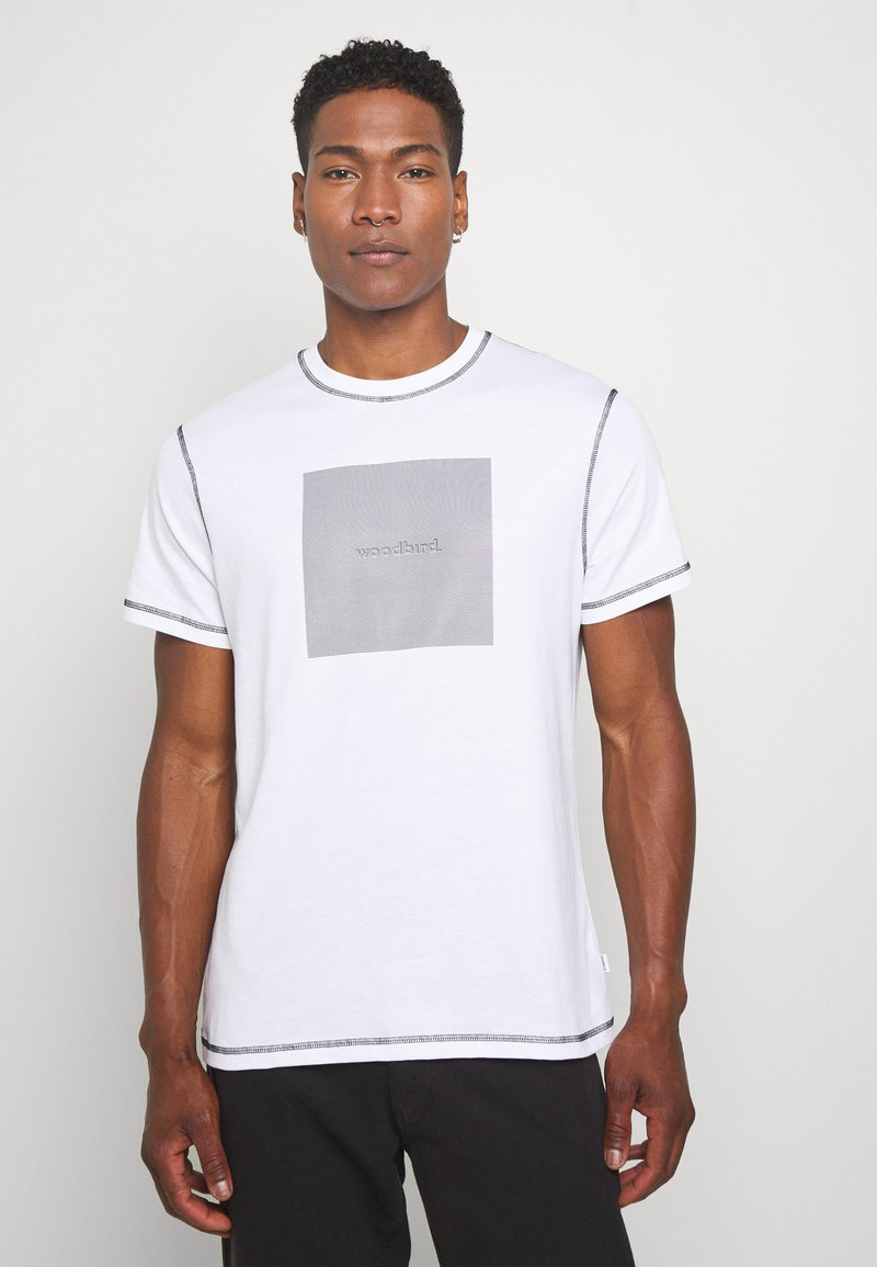 Woodbird - DIZZY TEE - Print T-shirt - white
