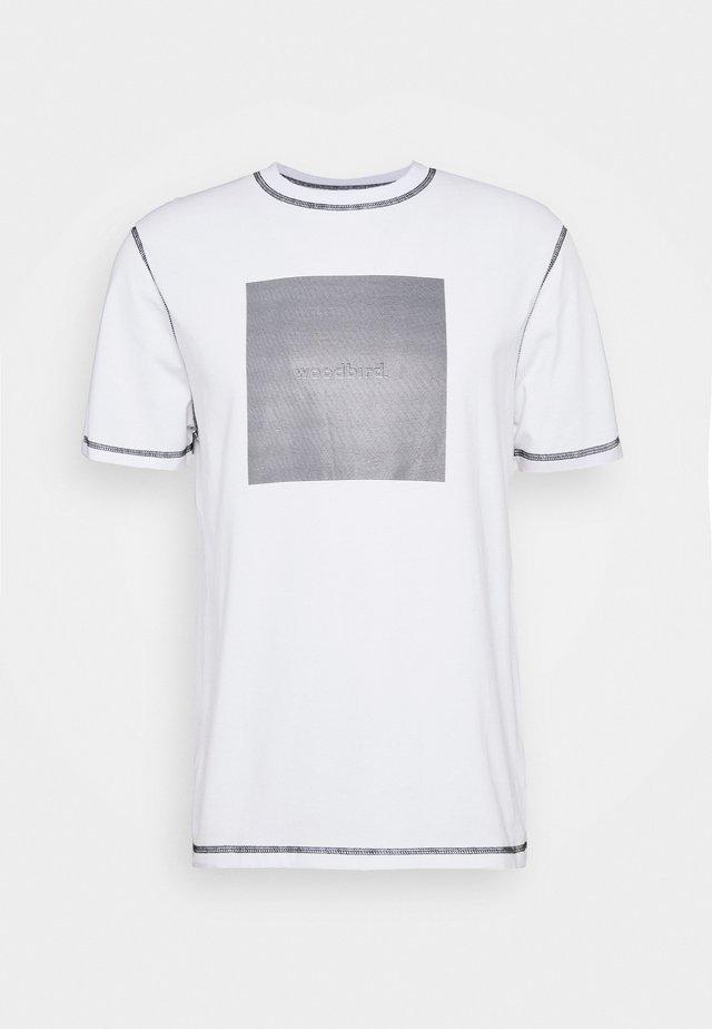 DIZZY TEE - Printtipaita - white