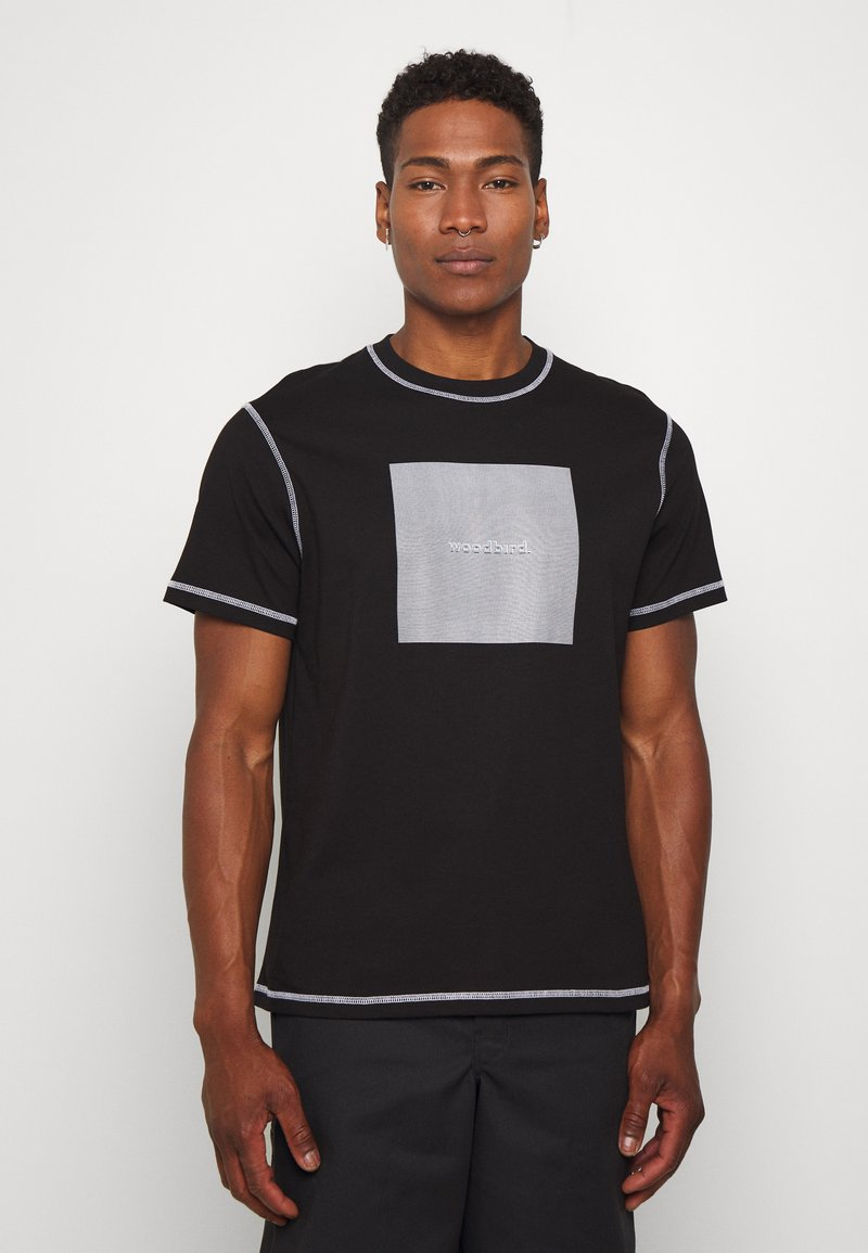 Woodbird - DIZZY TEE - Print T-shirt - black