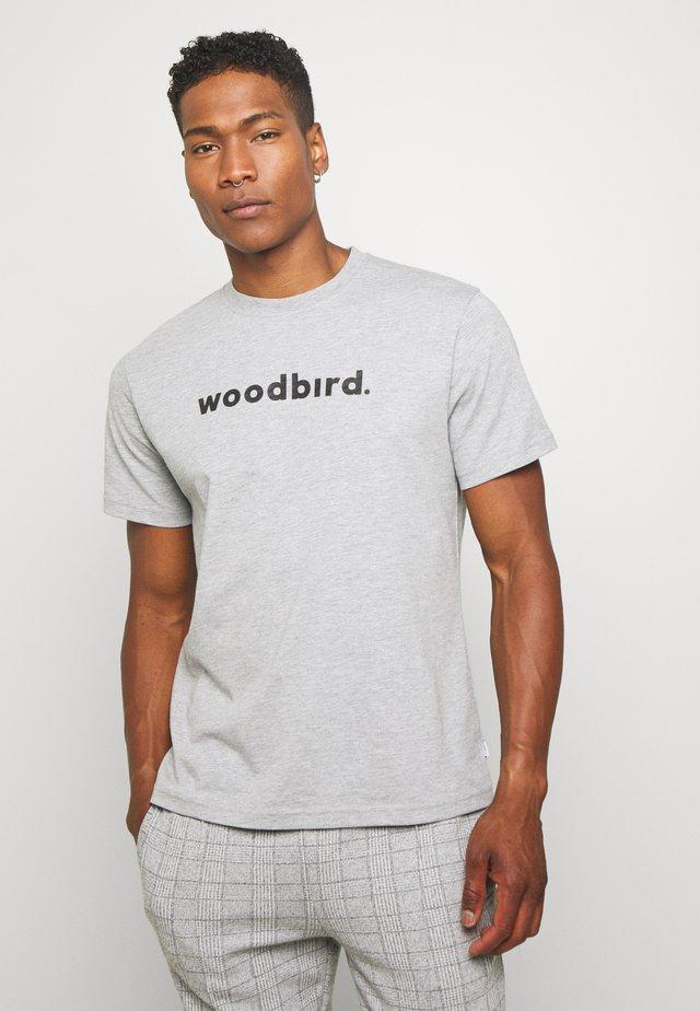 KARL LOGO TEE - T-shirt z nadrukiem - grey melange