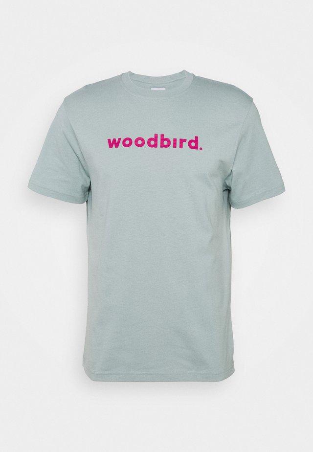 KARL LOGO TEE - T-shirt z nadrukiem - mint