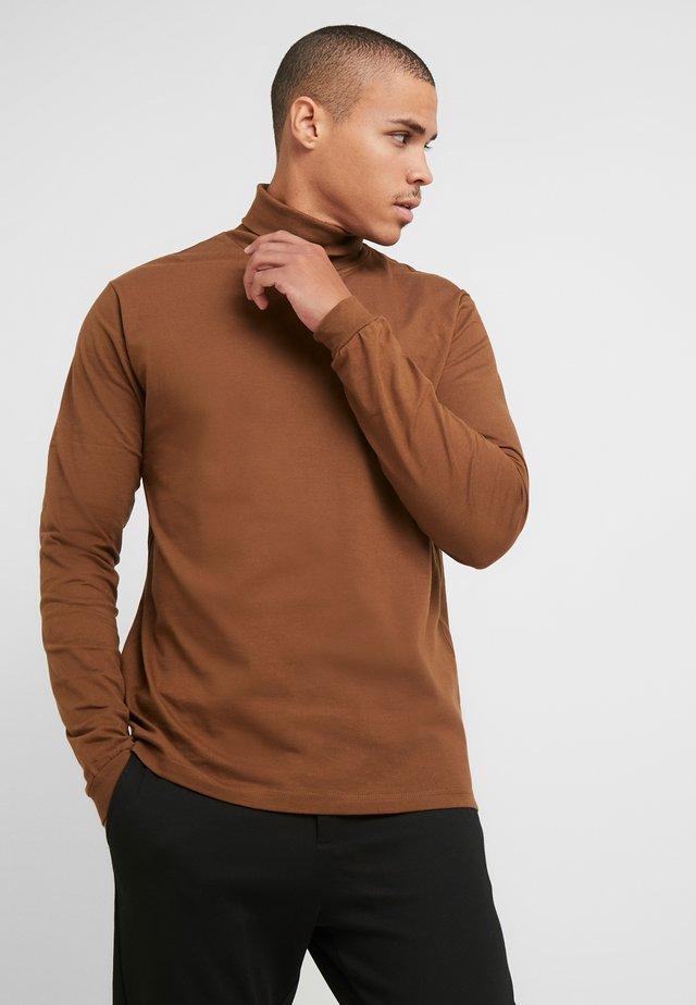 AMIN TURTLENECK - Bluzka z długim rękawem - brownie
