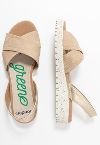 Wonders Green - Sandals - gaz nata/beige - 3
