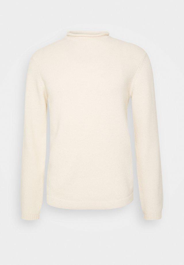 Strikkegenser - white