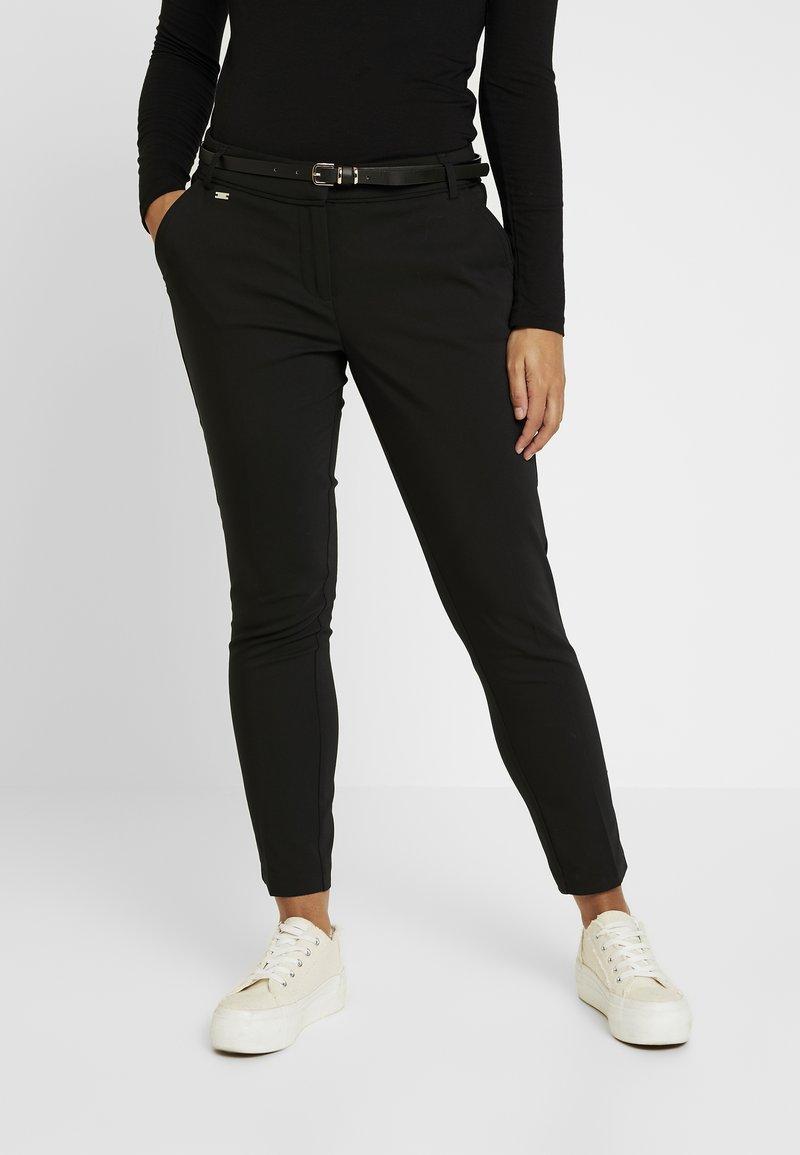 Wallis Petite - DOUBLE FACED CIGARETTE - Spodnie materiałowe - black