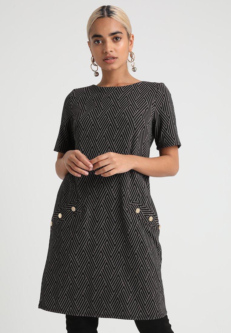 Wallis Petite - PATTERN PONTE DRESS - Vestido ligero - grey