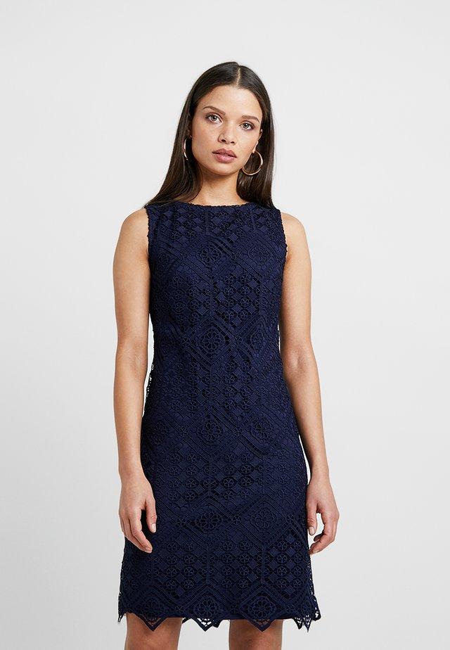 GEO SHIFT DRESS - Shift dress - ink