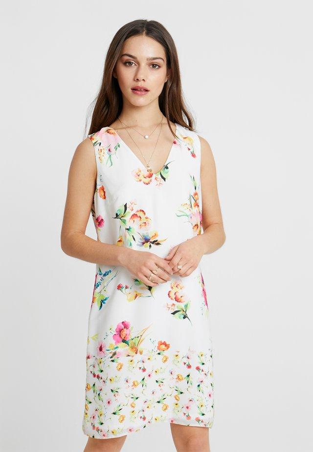 FLORAL SHIFT DRESS EXCLUSIVE - Kjole - white