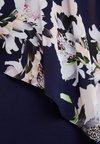 Wallis Petite - LEOPARD FLORAL OVERLAYER DRESS - Jerseyjurk - dark blue