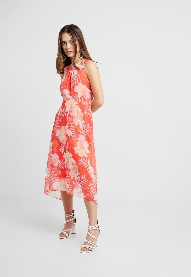 FLORAL PALM DRESS - Robe longue - orange