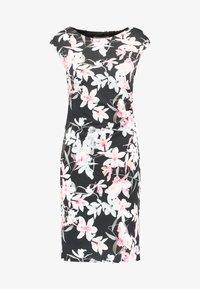 Wallis Petite - ORCHID RUCHE SIDE DRESS - Robe fourreau - black - 4