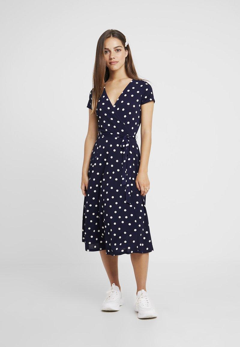 Wallis Petite - SPOT WRAP DRESS - Maxi dress - ink