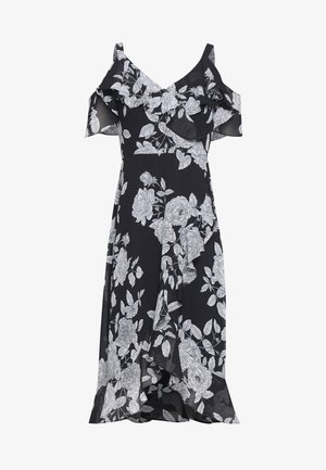 PETITES: MONO RUFFLE BARDOT  - Day dress - mono