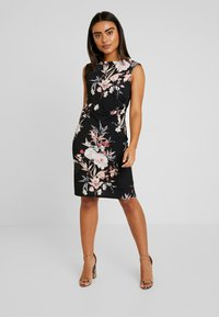 Wallis Petite - EVENT BIRD RUCHE SIDE DRESS BLACK - Sukienka z dżerseju - black - 0