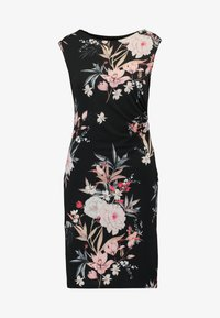 Wallis Petite - EVENT BIRD RUCHE SIDE DRESS BLACK - Sukienka z dżerseju - black - 4