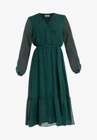 Wallis Petite - DOBBY TIERED MIDI DRESS - Korte jurk - forest green - 5