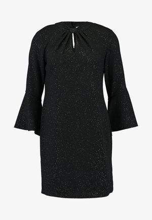 PETITE SEQUIN KNOT TWIST SWING DRESS - Vestido informal - black