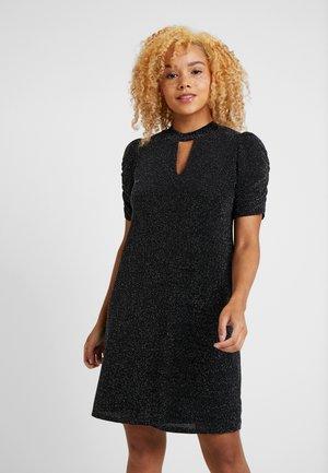 BRILLO RUCHE SLEEVE DRESS - Sukienka koktajlowa - black